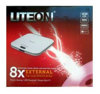 External USB DVD CD Writer / Burner 8x Top Load Liteon eTAU208-461 - NEW