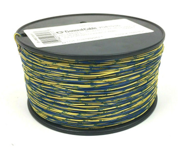 General Cable 2C 24 AWG Cross Connect Telephone Wire Cable 1000 ft - Blue Yellow