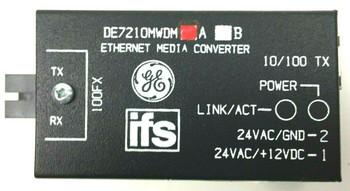 GE Video Surveillance Ethernet Media Converter Mini 1310/1550 Nm mm DE7210MWDMA