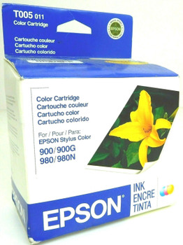 Genuine Epson T005 001 Ink Color Cartridge For Epson Stylus 900G 900 980 980N