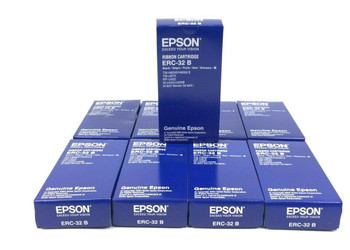 Genuine Epson ERC-32 B Black Ribbon 9-Pack Cartridge for TM-H600/H6000 RP-U420