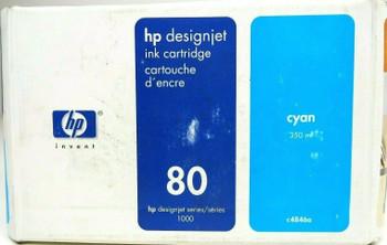 Genuine HP 80 Ink Cartridge C4846A for Designjet Series 1000 350ml - Cyan