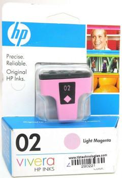 Genuine HP 02 Light Magenta Ink Cartridge C8775WN for HP Photosmart 3210 -2 Pack