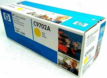 Genuine HP C9702A Yellow Print Cartridge for HP Laserjet 1500 2500 Printers