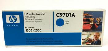 Genuine HP C9701A Cyan Toner Cartridge for HP LaserJet 1500 2500