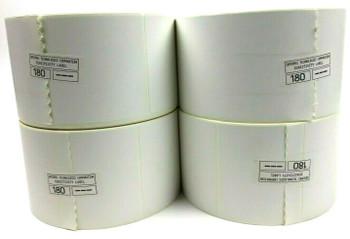 """Genuine Intermec Label E10857 4"""" x 6.5"""" Direct Thermal Labels - 8 Rolls White"""