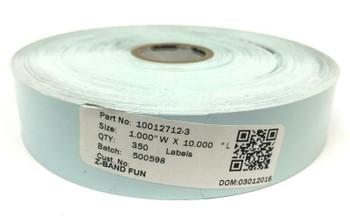 "Genuine Zebra 10012712-3 Z-Band Fun Direct Thermal 1"" x 10"" Wristband - 6 Rolls"