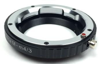 Haoge Manual Lens Mount Adapter Lens to Leica Olympus Panasonic M4/3 Cameras