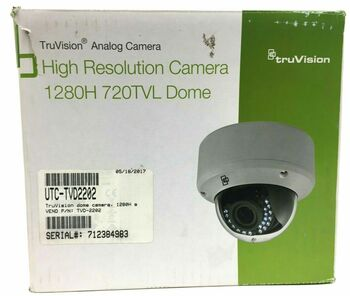 Interlogix TVD-2202 TruVision 720TVL 2.8-12mm VF Lens Dome Camera
