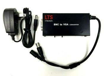 LTS BNC to VGA Converter with Power Adaptor LTAVB0VA6 - Black