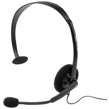 Microsoft Xbox 360 Game Console Official Wired Black Headband Headset P5F-00001