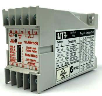 MultiTrode MTR-3 Liquid Level Control Relay 110VAC