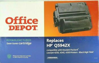 Office Depot Black Laser Toner Cartridge for HP Laserjet 4250 4245 4350 Printers