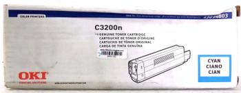 Okidata OKI 43034803 CYAN Toner Cartridge C3200N C3100 C3100n C3200