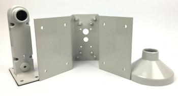 Panasonic PCM485S Corner Wall Mount & Shroud Kit for Outdoor Vandal Cameras