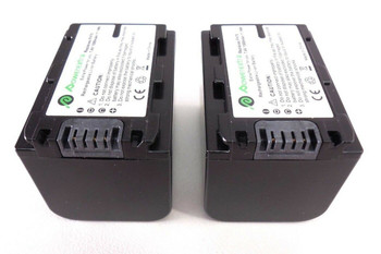 Powerextra Rechargeable Batteries 7.4V 1500mAh for Sony A6000 A650 - 2 Pack