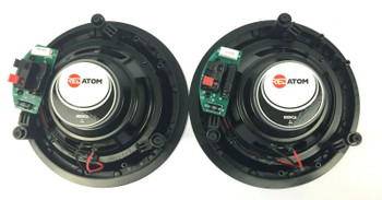 Red Atom 6.5″ Round 2-Way In Ceiling 8 OHM Speakers REDIC6 - Set of 2