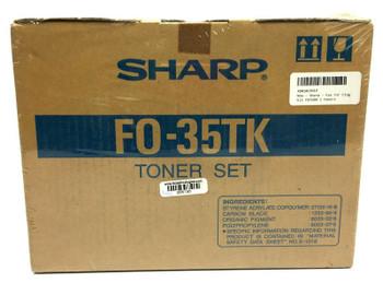 Sharp FO 35TK Black Toner Cartridge Kit - 3 Toner Set