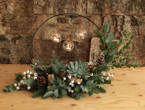 Snow Light Christmas Table Arrangement