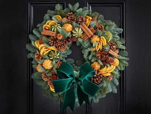 Festive Fruit Christmas Door Wreath