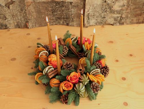Festive Fruit Table Arrangement