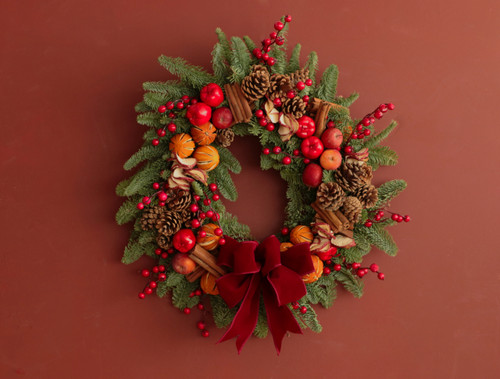 Holy Night Christmas Door Wreath