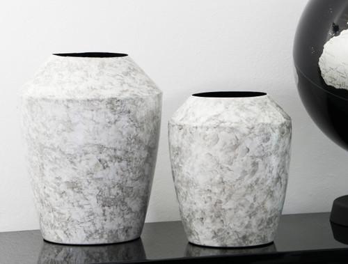 Grey Marbled Vase