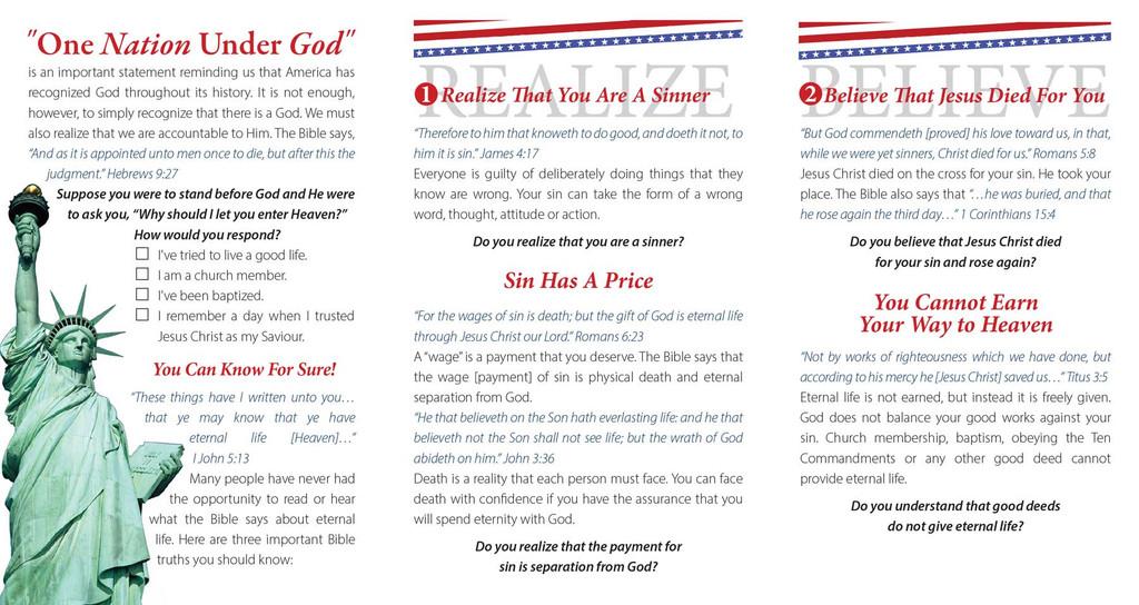 One Nation Under God-Stars and Stripes