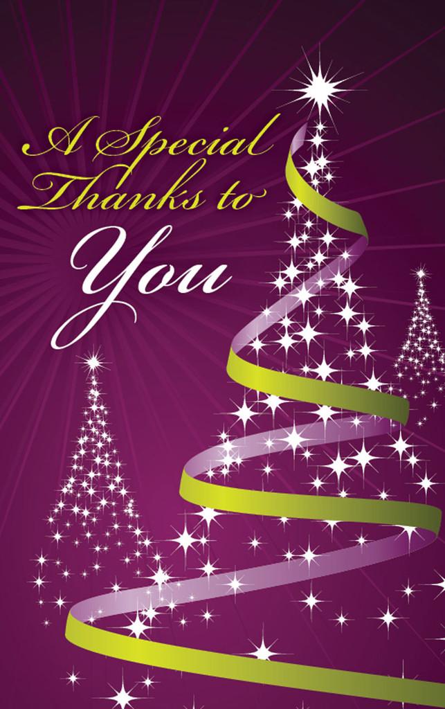 Thank You- Christmas Purple and Green
