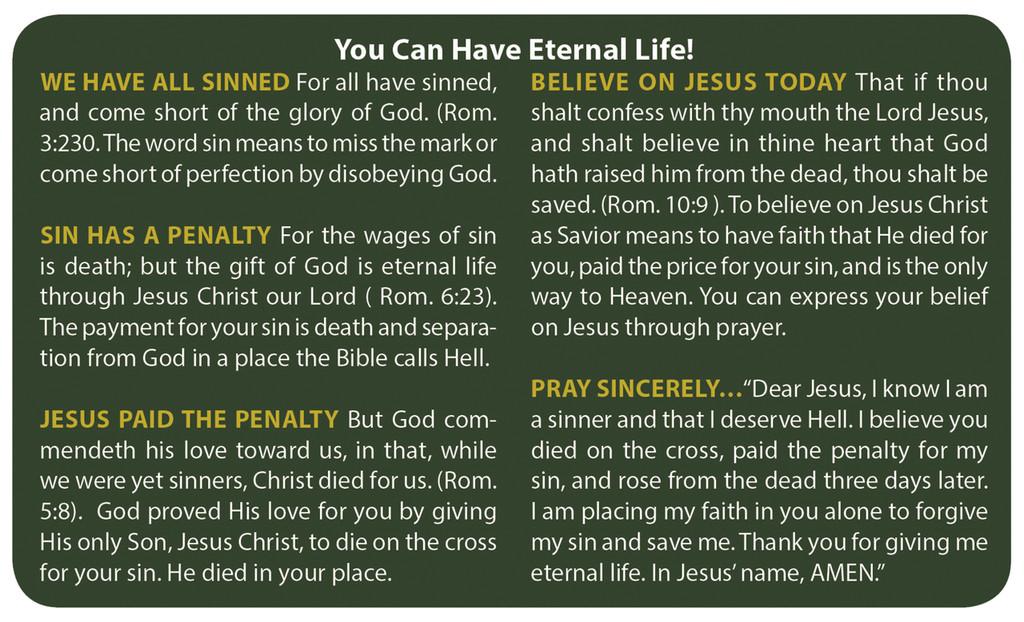 Gospel Card Sunrise