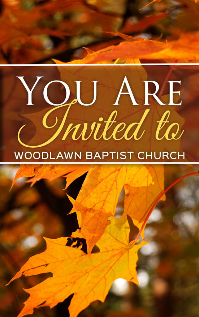 You Are Invited Fall Map Only