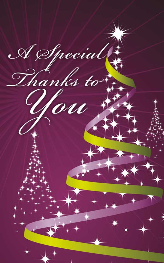 Thank You- Christmas Purple and Green Illustrated