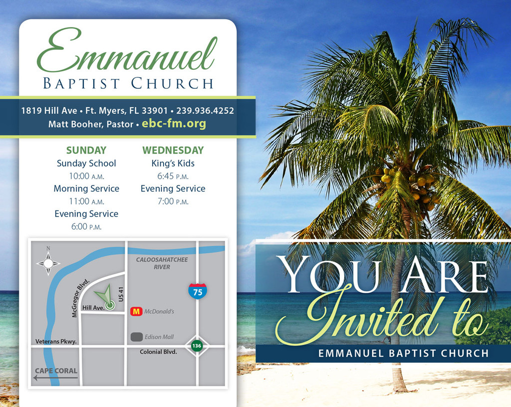 You Are Invited Coconut Palm