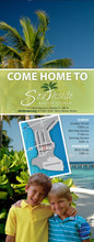 Come Home To-Palm and Sand-Door Hanger