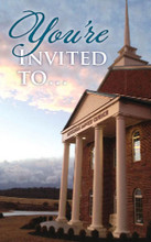 You're Invited To-Church Photo Teal and Tan