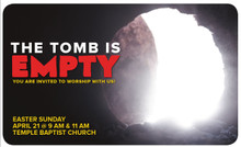 Empty Tomb 3x5 Card