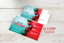 Merry Christmas-Red and Green Bulbs