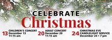 Celebrate Christmas Vinyl Banner