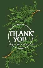 Thank You and Merry Christmas-Green and White