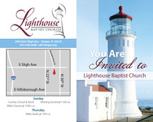 You're Invited Lighthouse Red