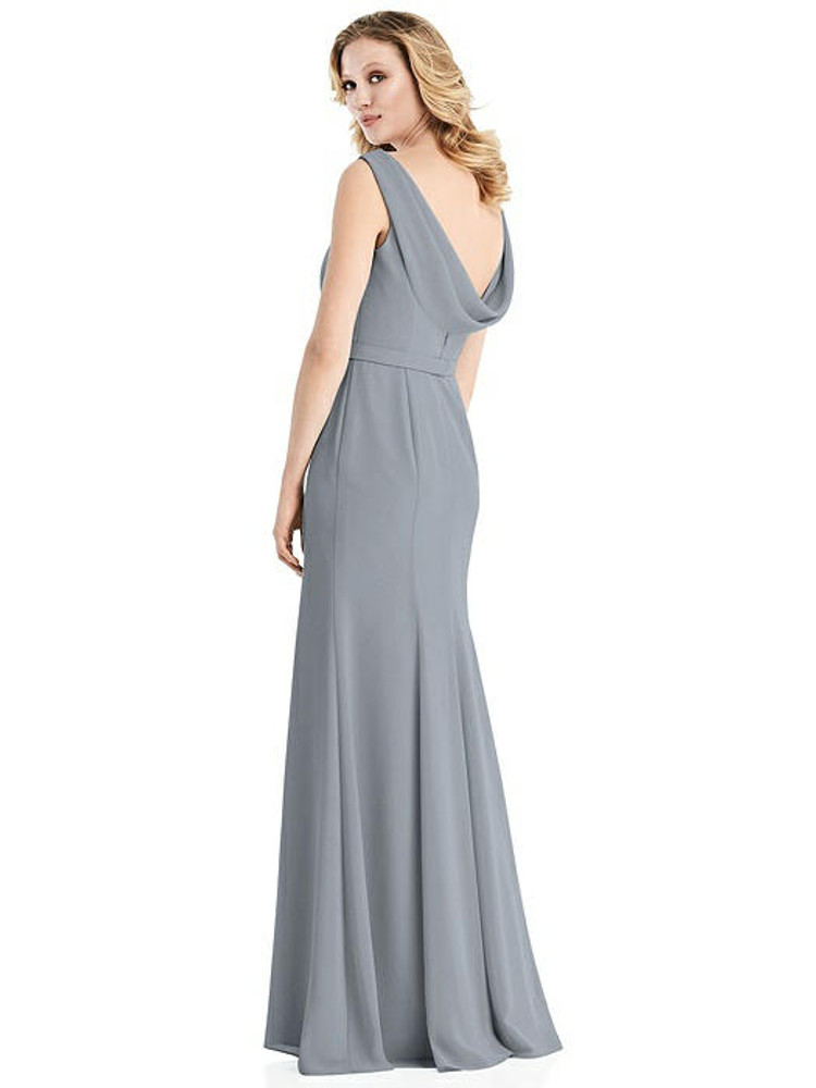 Sleeveless Cowl-Back Trumpet Gown by Jenny Packham Dress JP1032 in 34 colors