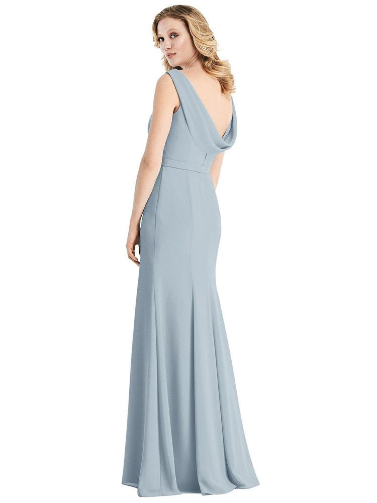Sleeveless Cowl-Back Trumpet Gown by Jenny Packham Dress JP1032 in 34 colors in mist
