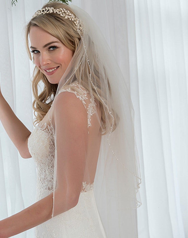 Emma Beaded Wedding Veil