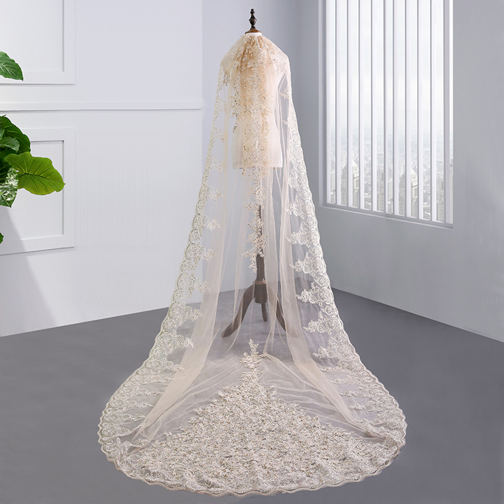 Reina Embellished Wedding Veil