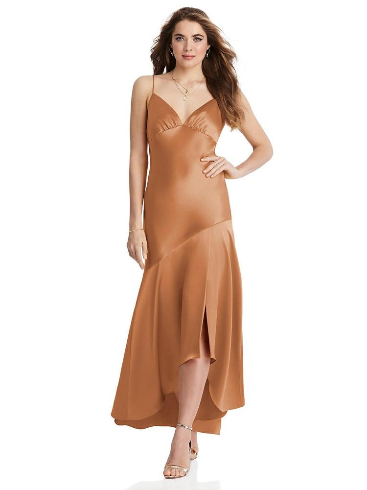 Devon - Asymmetrical Drop Waist High-Low Slip Dress