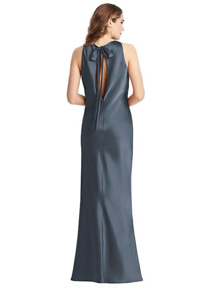 Marin  - Tie Neck Low back Maxi Tank Dress