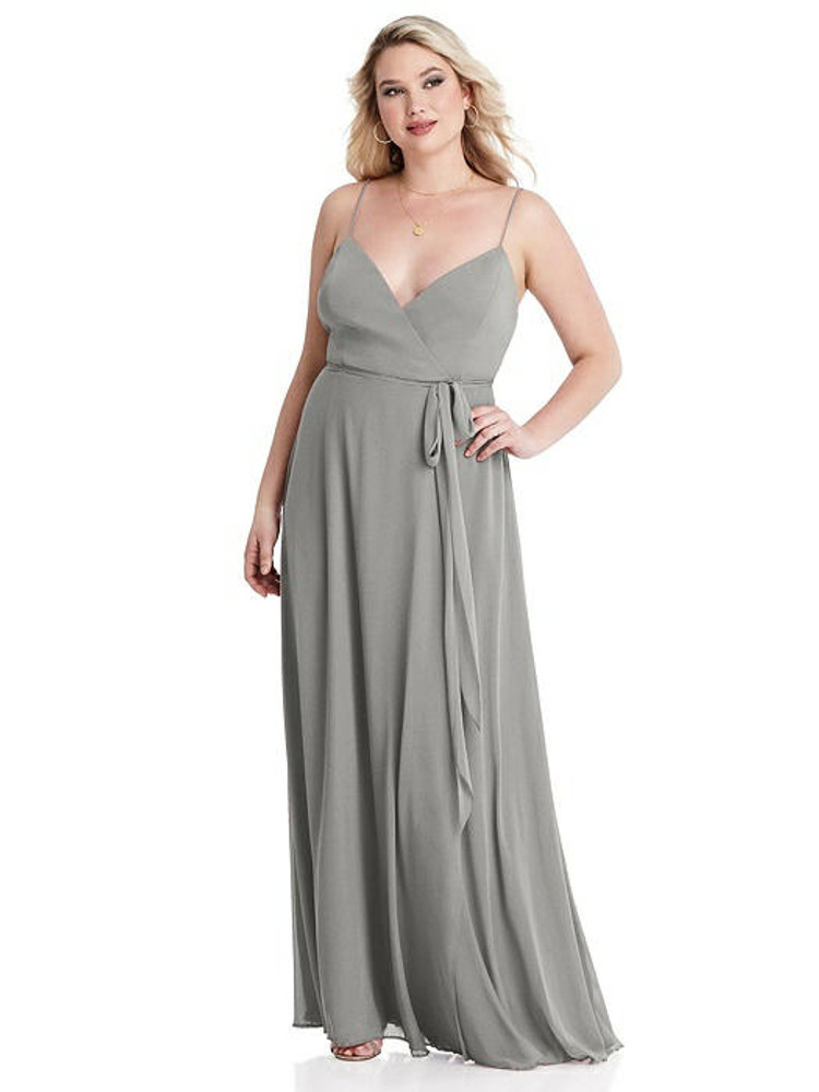 Cora - Chiffon Maxi Wrap Dress with Sash