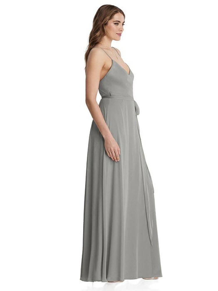 Cora - Chiffon Maxi Wrap Dress with Sash