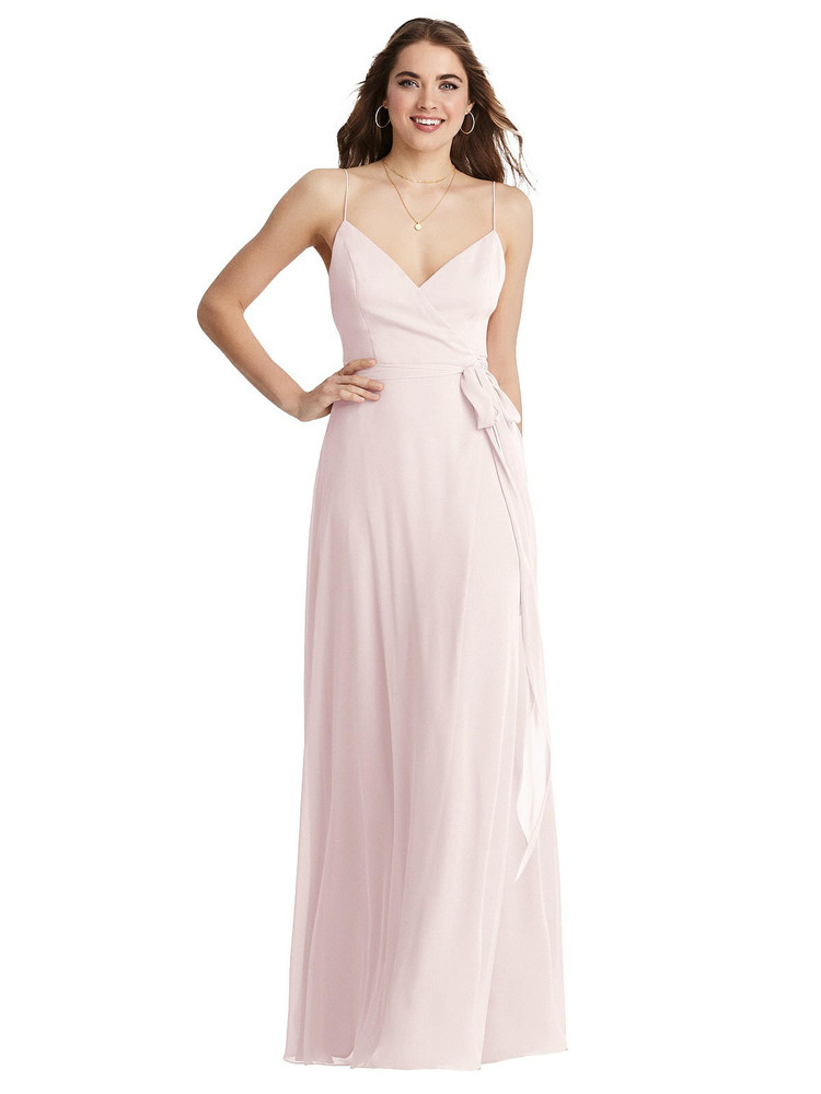 Cora - Chiffon Maxi Wrap Dress with Sash available in 63 colors
