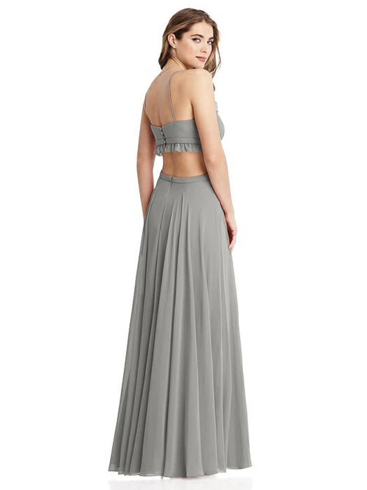 Jessie - Ruffled Chiffon Cutout Maxi Dress